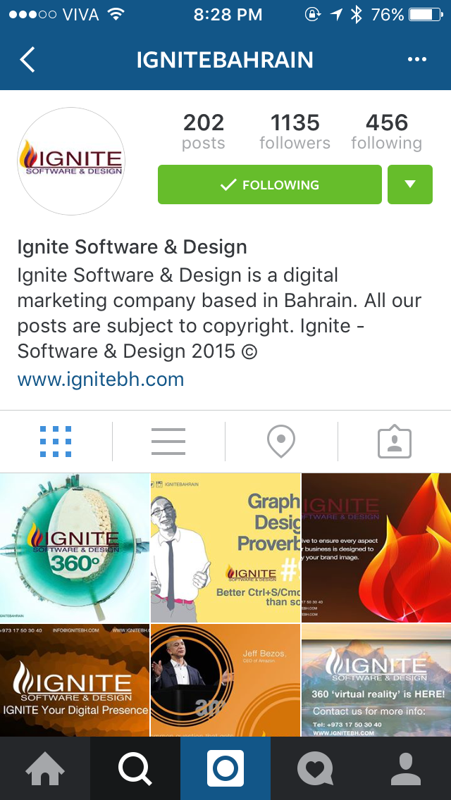 ignite instagram