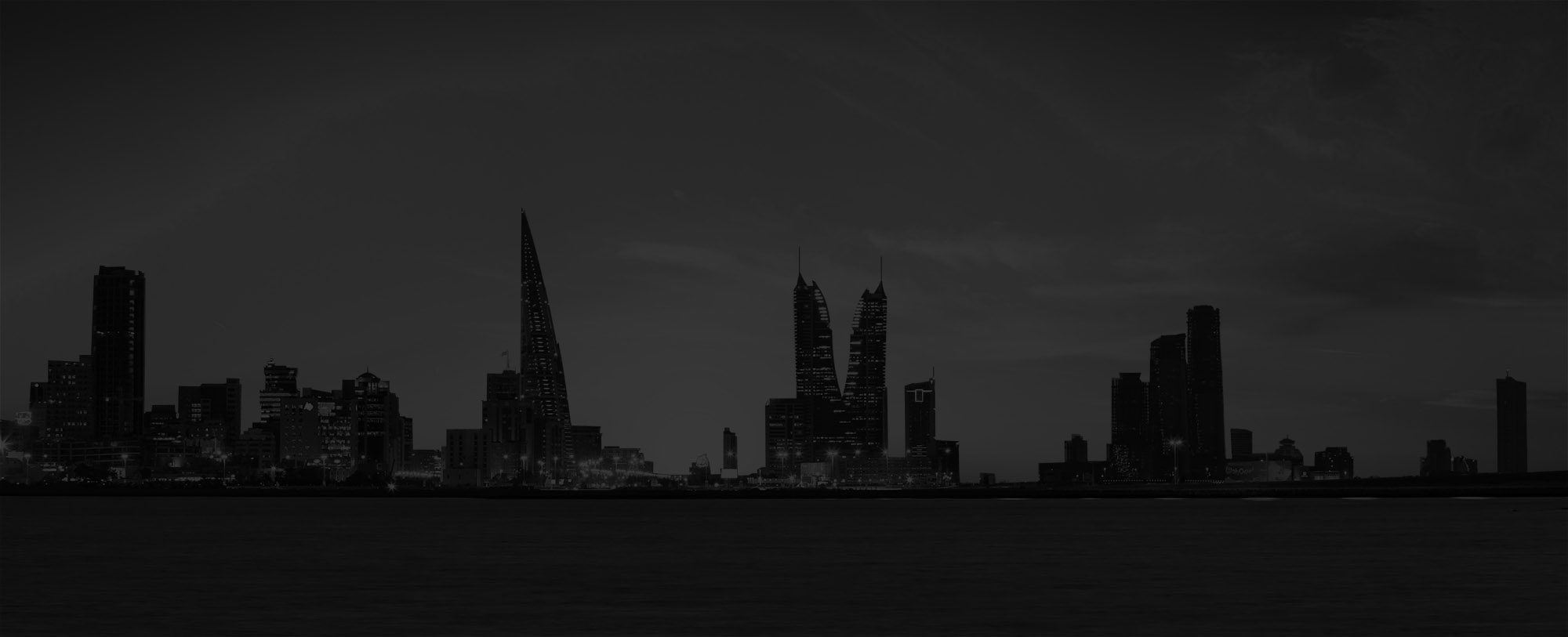 Bahrain Skyline Black